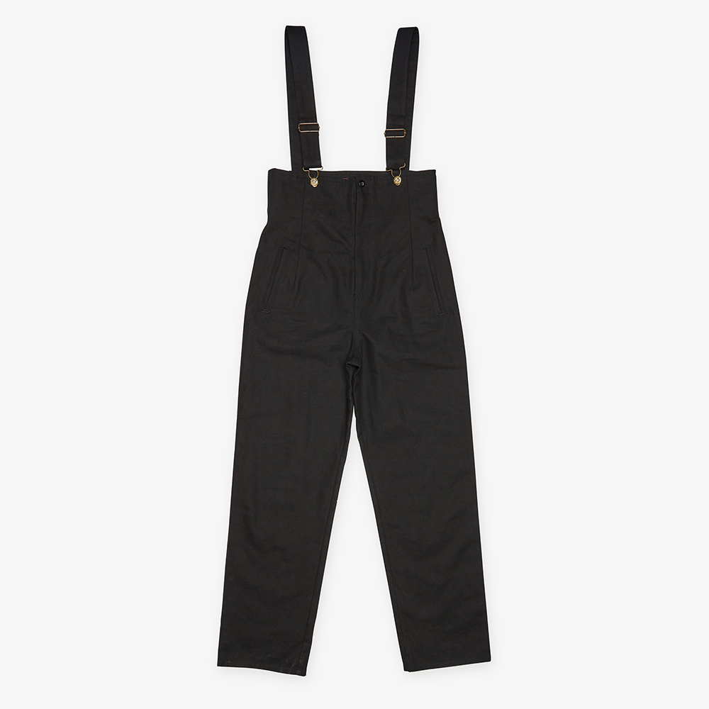 HIGH WAISTED OVERALL BLACK