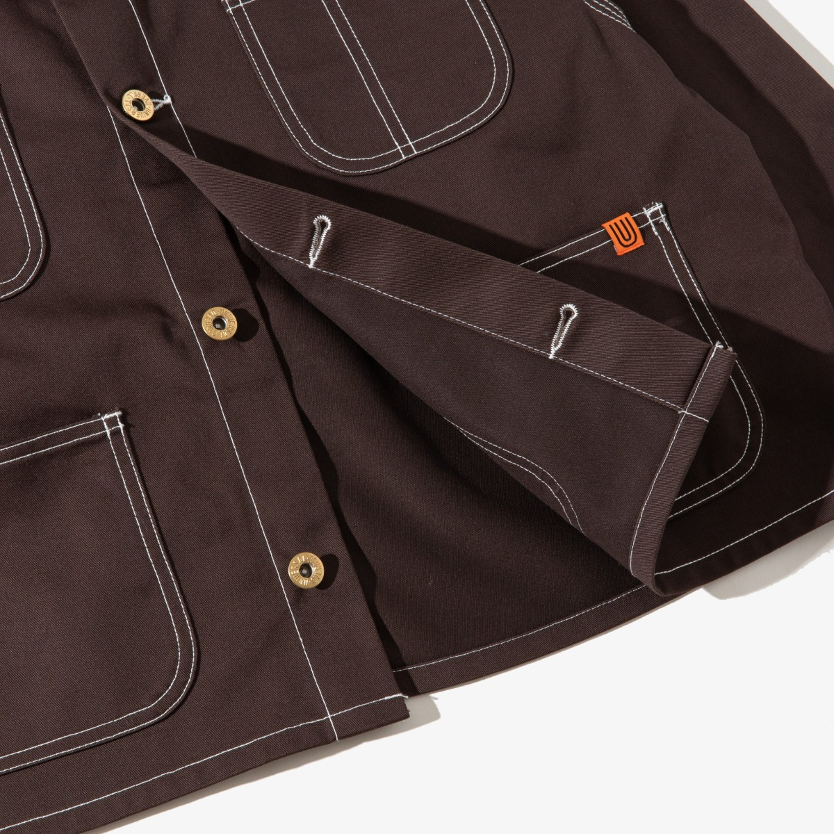SHORT COVERALL DARK BROWN