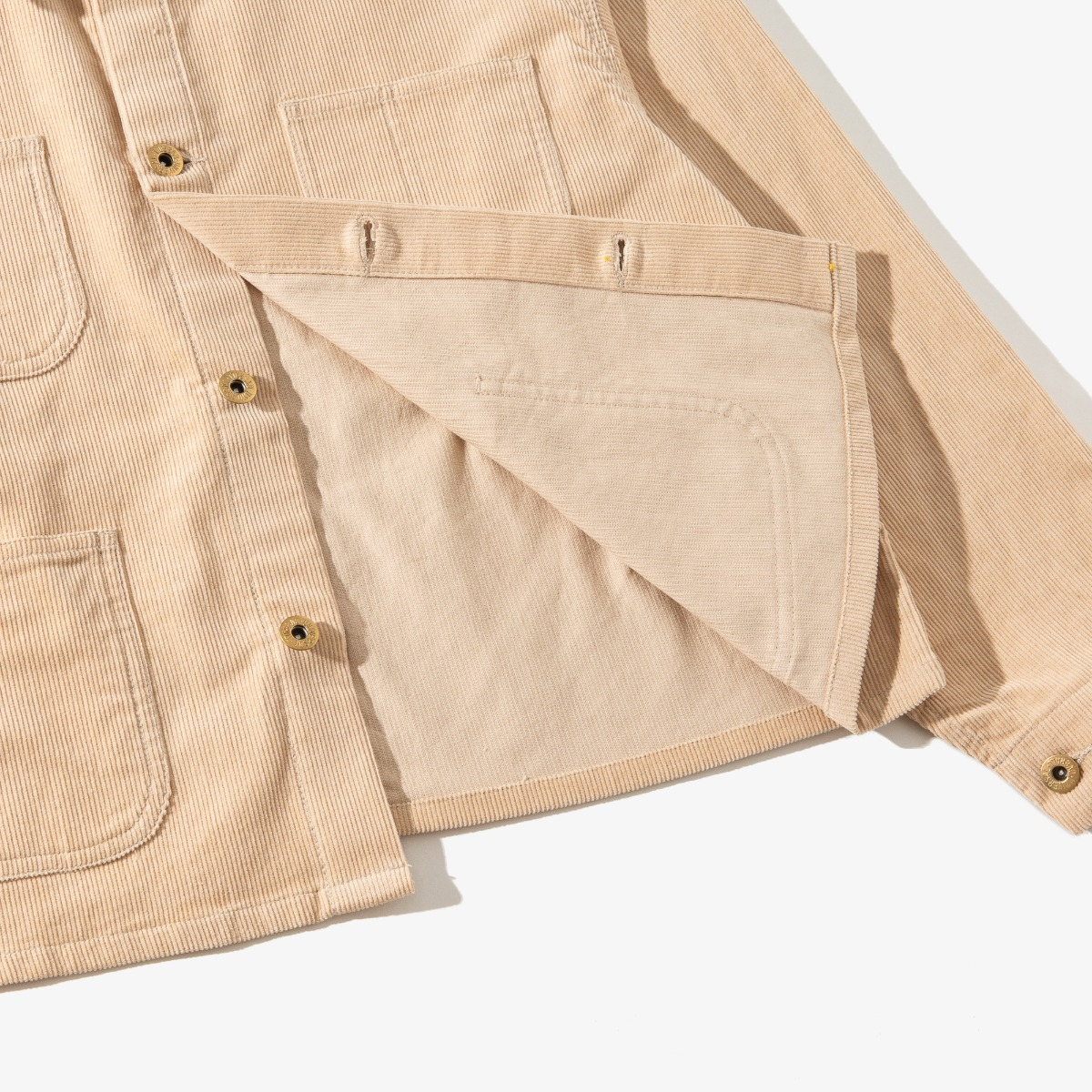CORDUROY SHORT COVERALL BEIGE