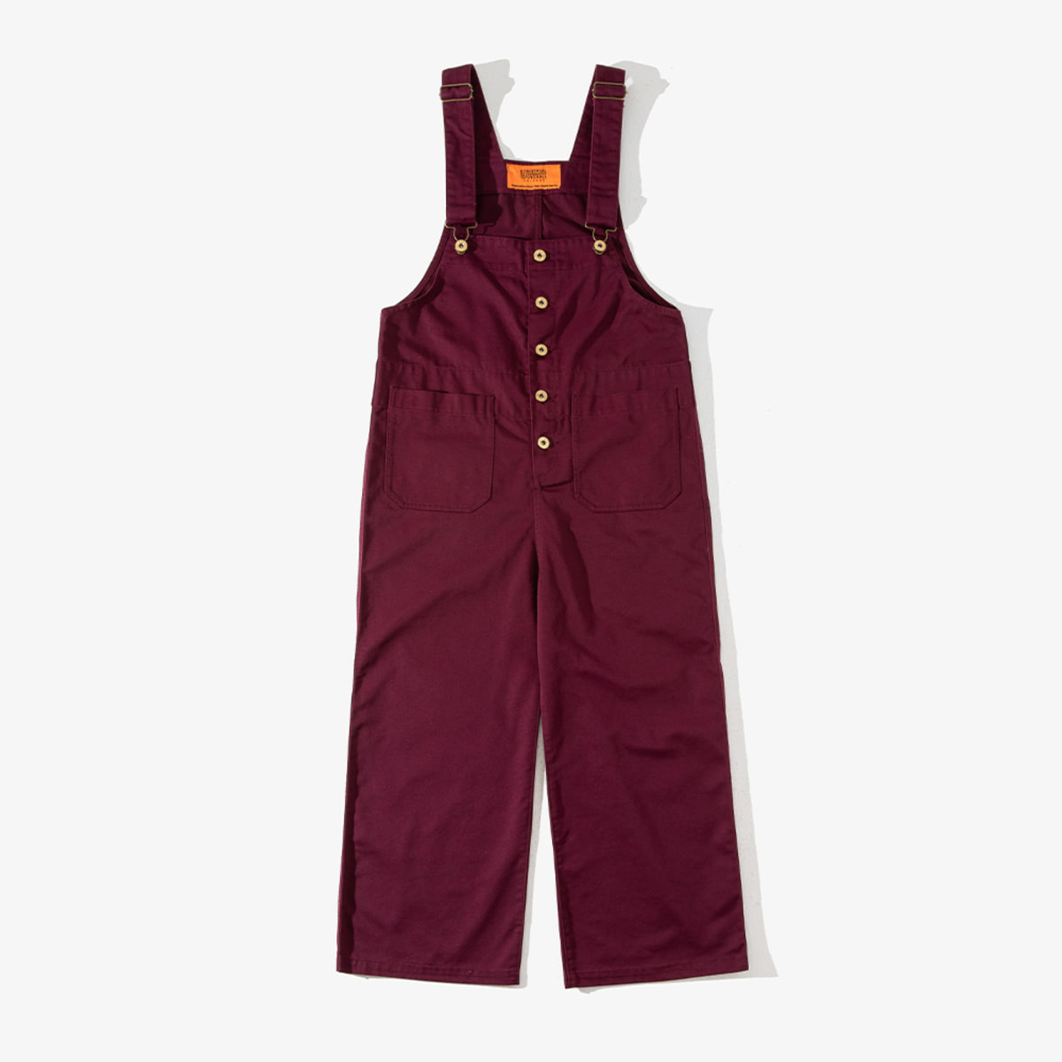 WOMENS BASIC OVERALL BURGUNDY