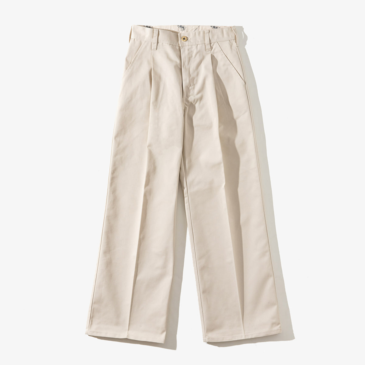 WOMENS WIDE PANTS IVORY