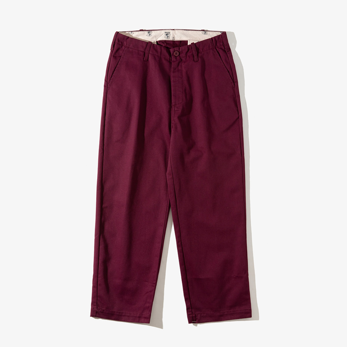 [T-04] WIDE PANTS BURGUNDY