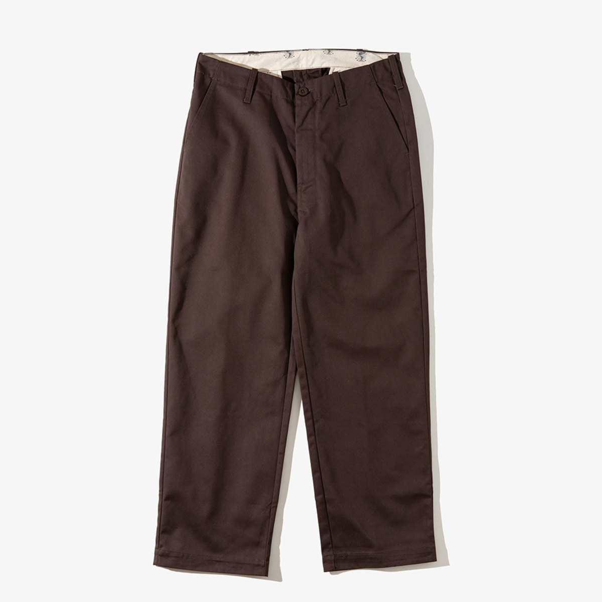 [T-04] WIDE PANTS DARK BROWN