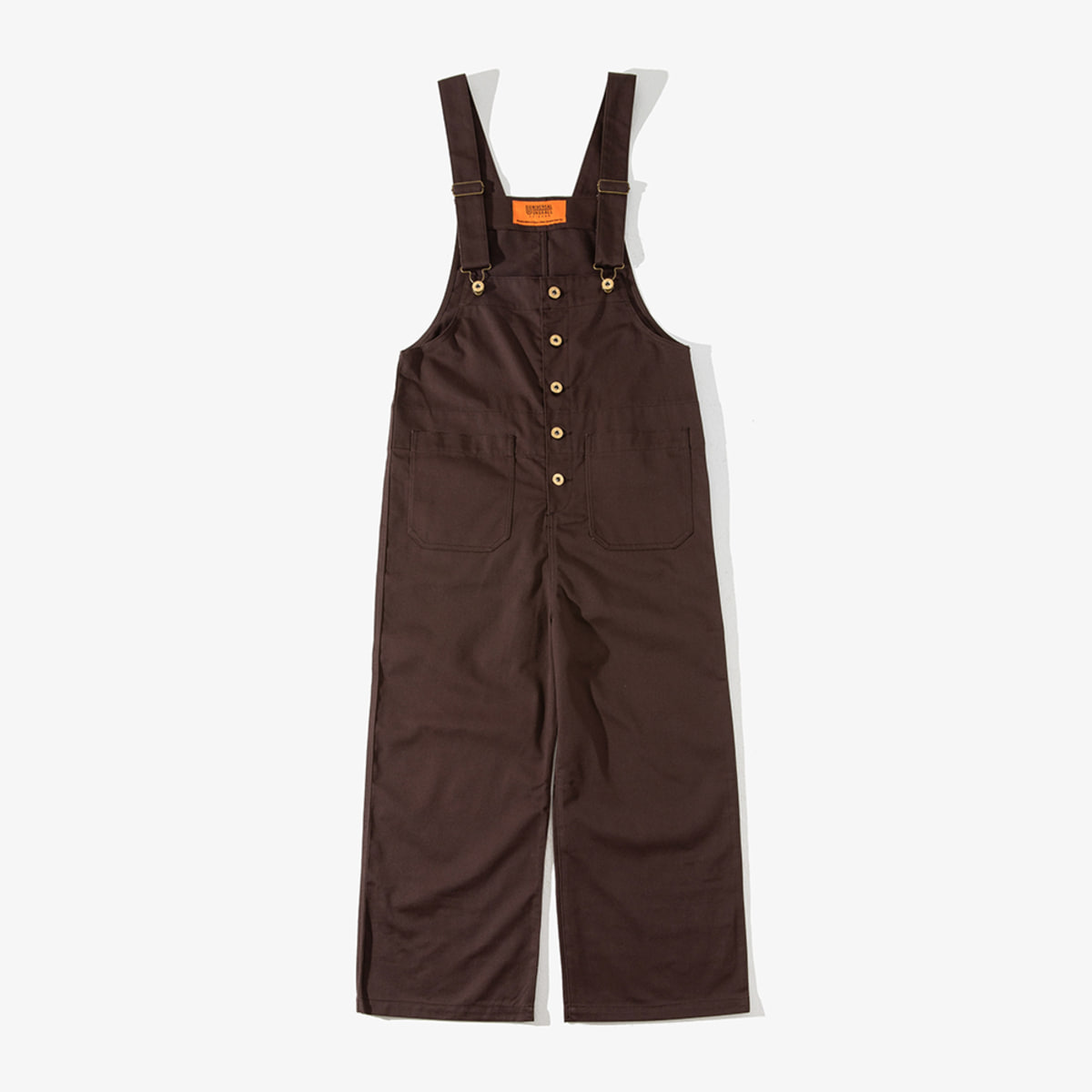 WOMENS BASIC OVERALL DARK BROWN