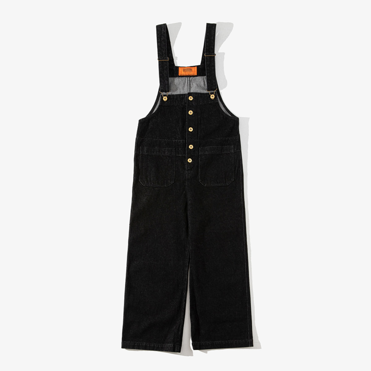 WOMENS DENIM BASIC OVERALL BLACK