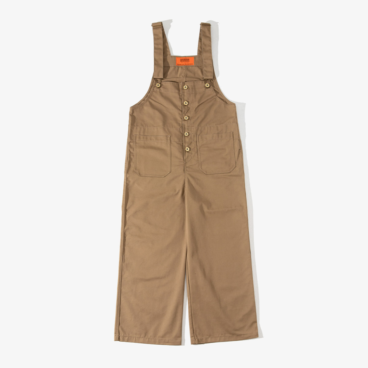 WOMENS BASIC OVERALL BEIGE