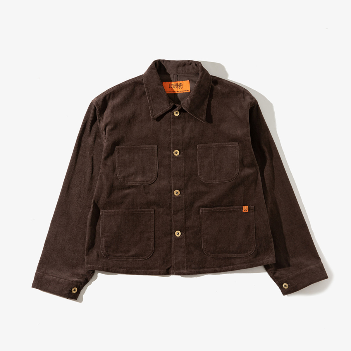 CORDUROY SHORT COVERALL BROWN