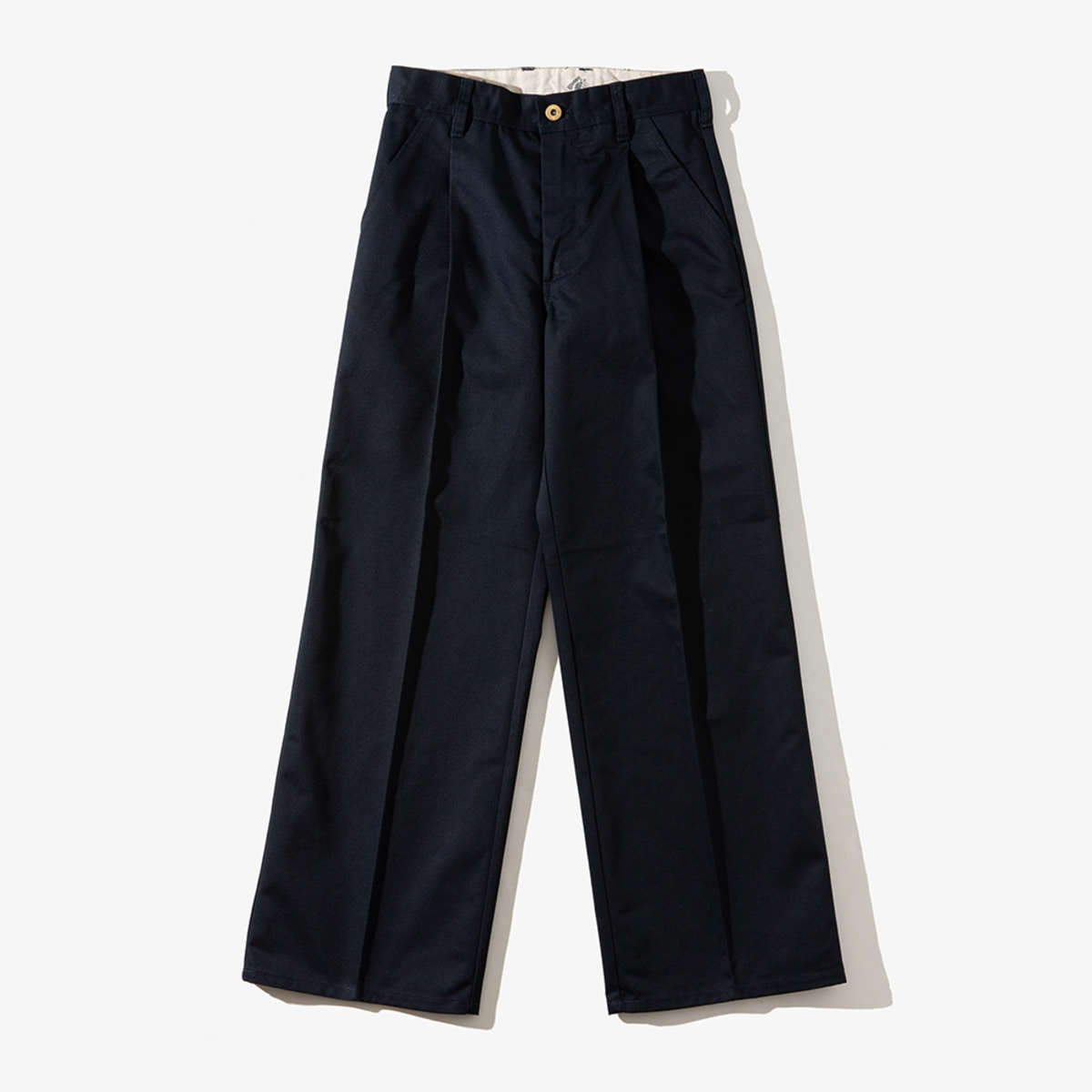 WOMENS WIDE PANTS NAVY