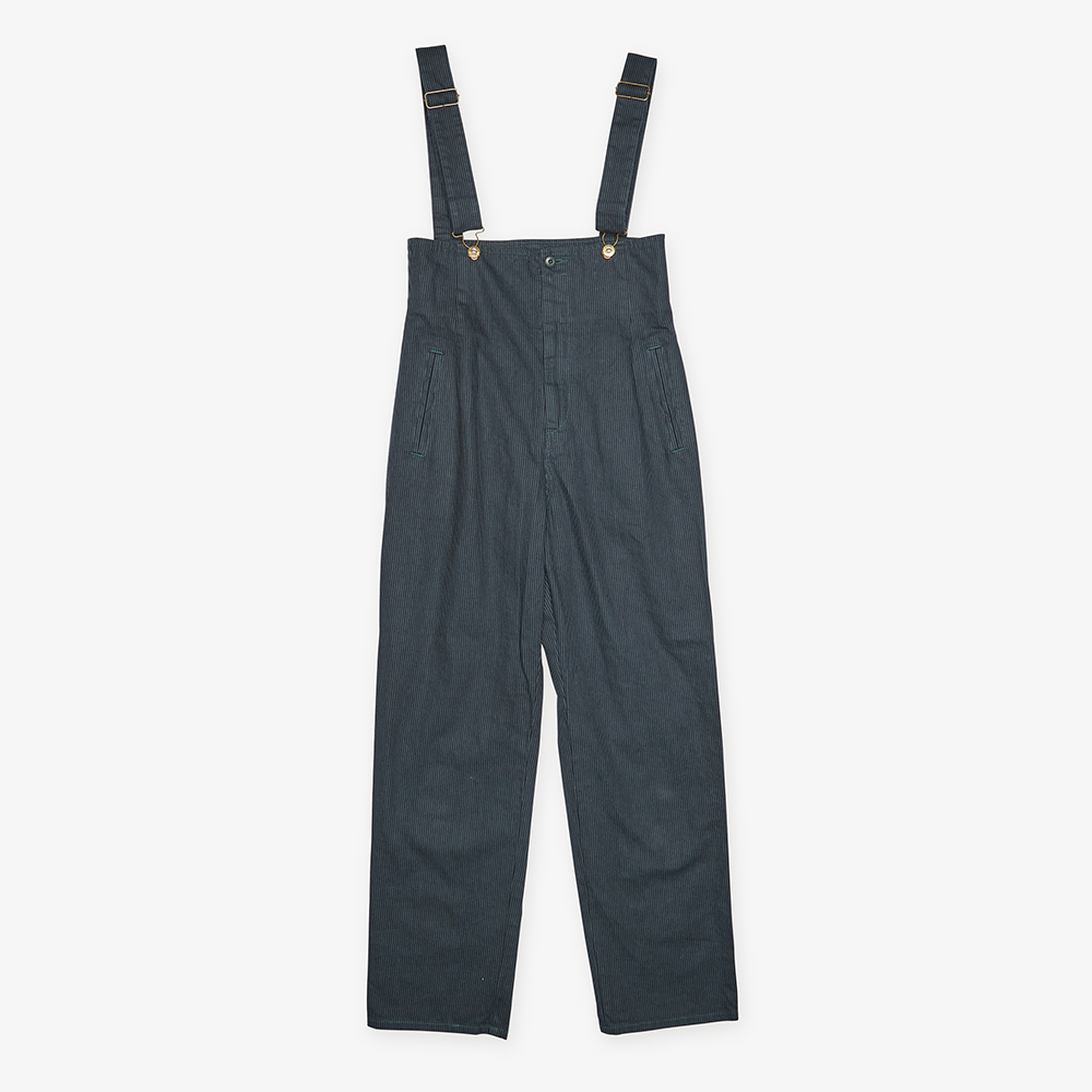 HICKORY HIGH WAISTED OVERALL GREEN