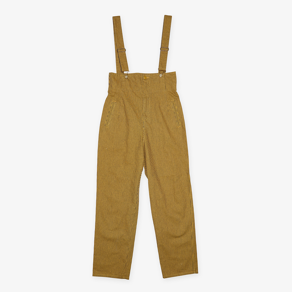 HICKORY HIGH WAISTED OVERALL YELLOW