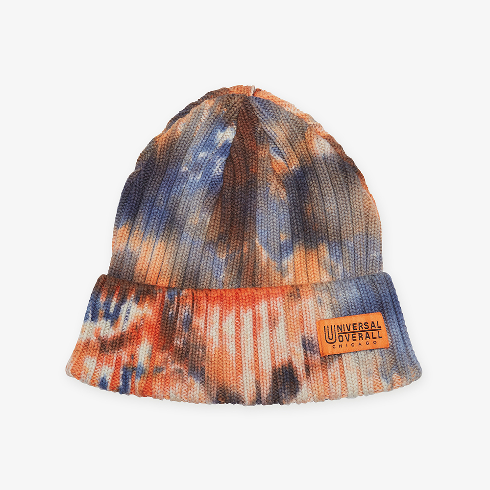 U/O TIEDYE COTTON WATCH CAP ORANGE